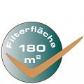 Biologická filtrace probíhá ve 4 patronách o celkové ploše 180 m2