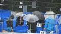 I přes hustý déšť se KOI posuzovali velmi důkladně, těžká řehole rozhodčích...