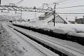 Zatímco v Tokyu je slunečné počasí - teploty +/- 10°C, v horských oblastech panuje opravdu zimní počasí ...