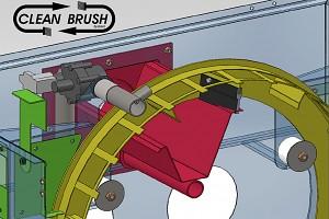 Čistící kartáče pro bubnový filtr pro koupací jezírka do 50m3, pro jezírka s KOI do 30m3