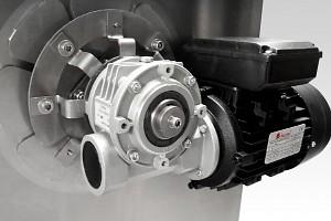Detail motoru. Bubnový filtr s biokomorou pro koupací jezírka do 50m3, pro jezírka s KOI do 30m3