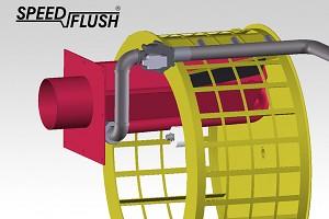 Speed Flush - nový vysoce výkonný oplachový systém na odpadní vodu.