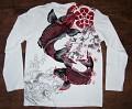 Originální bavlněné triko s dlouhým rukávem s ornamentálními motivy KOI.