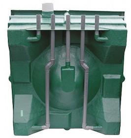 Ukázka odpadního potrubí z jednotlivých komor filtru Center Vortex