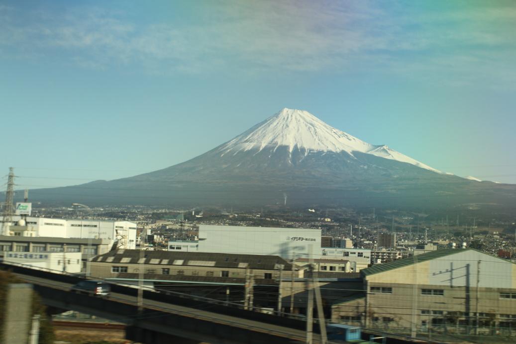 Hora Fuji s krásným sněhovým čepcem ...