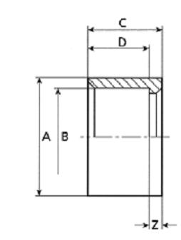 PVC redukce krátká - lepení