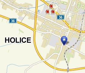 Jak nás najdete? Mapa AKC Holice