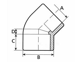 PVC Koleno 45°